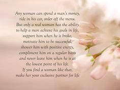 Any woman can spend ...