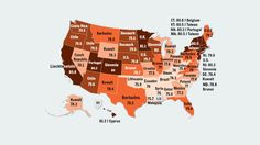 A Map of State Life Expectancies (And What Country They're Closest To)
