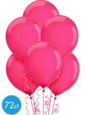 Magenta Latex Balloons 12in 72ct - Solid Latex Balloons - Balloons $7.99