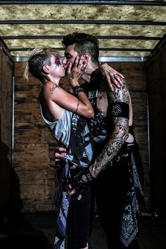 Andy Biersack and Juliet Simms Warped Tour 2013