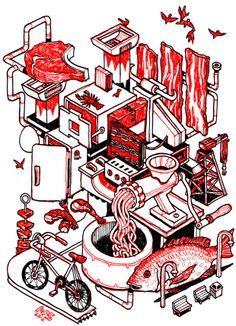 Illustration by Nigel Sussman at Draw24