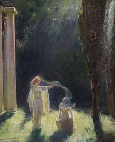 Venus veiling Pandora, Artist Charles Courtney Curran