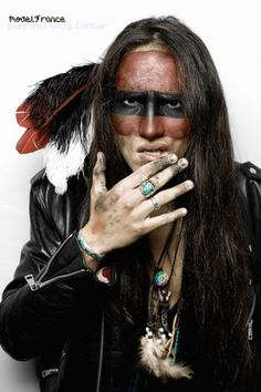 ► Model Will Cartier by photographer Everbokeh . Native American Face Paint, Native American Actors, Native American Warrior, Native American Images, Native American Regalia, Native American Beauty, American Indian Art, Native American History, American Indians