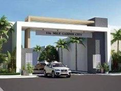 New Projects in Hoshangabad Road, Bhopal - Upcoming Residential . Front Gate Design, Main Gate Design, Entrance Design, Facade Design, Architecture Design, Modern Entry, Modern Entrance, Minimalist House Design, Modern House Design