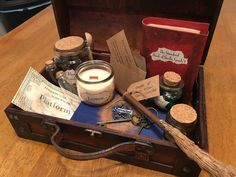 Harry Potter Hogwarts School Trunk Set, Potions Class, First Year, Supplies, Chest, Suit Case, Steamer Trunk, with House Choice