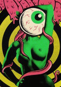 Swamp Thingy : 12 of 1744 Trippy, Graffiti, Aliens, Street Art, Arte Tribal, Arte Pop, Art Graphique, Psychedelic Art, Mark Rothko