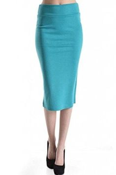 DBG Women's Women's High Waisted Pencil Stetch Skirt