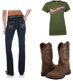 This is one I just whipped up quick, but I still like it. Cowgirl Outfits, Cowboy Boots, Jr, Outfit Ideas, Concert, My Style, Shoes, Fashion, Moda