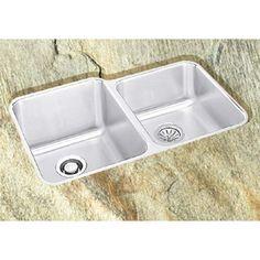 Model DXUH312010R: Dayton Double Bowl Undermount Kitchen Sink