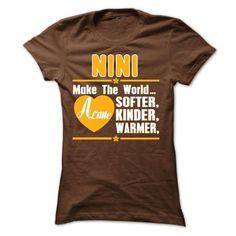 Nini  Make The World - #tee time #tshirt. GUARANTEE => https://www.sunfrog.com/Funny/Nini-Make-The-World-Ladies.html?68278