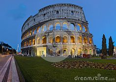 The evening Colosseum. Once upon a time in Rome...