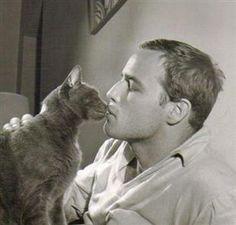 Marlon Brando and, um, lucky cat