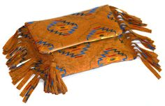 Aztec Clutch Bag. Navajo Purse. Tribal Fold Over. Fringe Clutch. Ethnic Embroidery. FoldOver clutch.  Free US Shipping on Etsy, $29.00