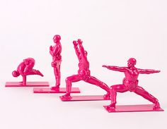 http://www.toxel.com/inspiration/2014/10/08/yoga-army-men/ - Yoga Army Men - also in green - designed by Dan Abramson