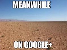 Nel frattempo, su Google Plus … [MEME] #LaCosaSocial #SMM