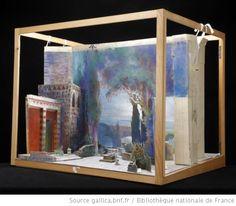 [Salomé : Acte unique : jardins du palais d'Hérode : maquette de décor en volume…