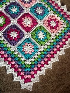 Baby blanket granny crochet**Beautiful Colors!!**