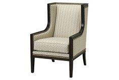 Blitmore Wingback Chair, Cream/Gold