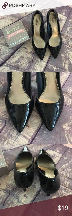 👠Dexter solid black heals 9.5 EUC worn once. 😺Pet free home 🔥 Smoke free home 🤷♀️Please read entire description  🤷♀️I love bundles and will always reply with a reasonable counter offer!  🏝I can no longer alter bundles for special orders everything is as listed!  🎢Colors may vary slightly based on lighting. Dexter Shoes Heels