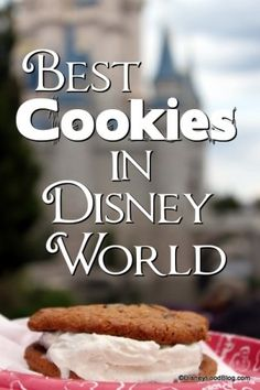 Some awesome Disney cookie snacks! -- I love the cupcakes at Disney World, the drinks at Disney World, the character meals, etc. But I think cookies are my all-time favorite! Here are some of the best. Walt Disney World, Disney World Food, Disney World Vacation, Disney Vacations, Disney Travel, Orlando Vacation, Vacation Spots, Vacation Ideas, Disney World Tips And Tricks
