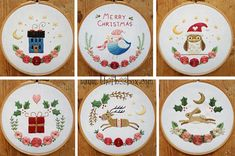 Looking for some great Christmas embroidery? Christmas Florals are fun and colorful, perfect for a chilly night of stitching! The patterns are perfect for beginners or advanced stitchers. The pattern pack comes with complete instructions. All designs fit in a 5- or 6- inch hoop (finished