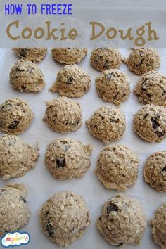 How to Freeze Cookie Dough - MOMables® - Real Food Healthy School Lunch & Meal Ideas Kids Will LOVE