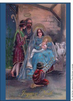 Carte Joyeux Noél et la crèche pour envoyer par La Poste, sur Merci-Facteur ! #crèche #noël #noël2014 #Christmas #MeryChristmas #navidad #petitJésus #carte #sapin