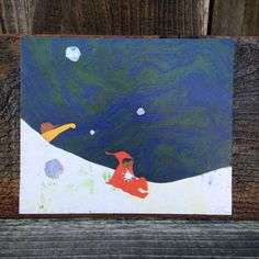 The Snowy Day, Ezra Jack Keats, 1962-  Peace by Piece, Reclaimed Wood Children's Book Illustration Wall Art