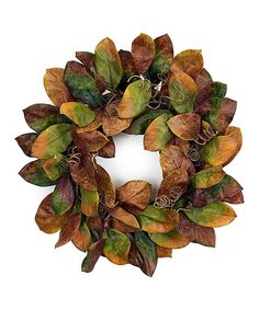 Look at this Magnolia Leaf Wreath on #zulily today!