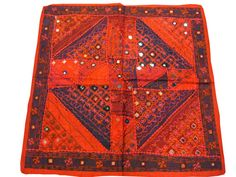 Indian Inspired Tableclothes Red Vintage by MOGULGALLERY on Etsy, $49.00
