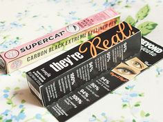 they're real mascara - benefit | supercat eyeliner pen - soap and glory. Benefit AND Soap and Glory.... #foundmykryptonite