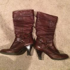 Slouch boots Size 38 slouch boots, no brand, inside soles missing Shoes Heeled Boots