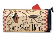 Home Sweet Home Best Nest Magnetic Mailbox Cover by Magnet Works. $14.25. Imagine, one product you can change as often as you like, season after season to dress up your old boring mailbox. Well this is it! Introducing Mailwraps® magnetic mailbox covers. The concept is simple: Provide an inexpensive quality product made durable and long lasting to provide exceptional style and uniqueness to the front of your home. And make it in the USA. These Mailwraps® are sc...