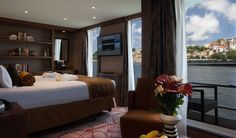 This stateroom aboard the AmaVida can be your home for 8 days, as you explore over 100 miles along the Rio Douro, through the heart of northern Portugal. Fall under the spell of the Douro River Valley, one of our favorite places to venture off the beaten track. #Madrid #Porto #DouroInternationalNaturePark #Salamanca #Lisbon #Lamego #rivercruise #biking #Portugal #Resende