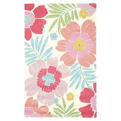 tropical floral rug by Pottery Barn teen