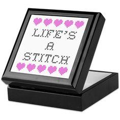 Life's a Stitch - Cross Stitch Keepsake Box