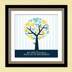 Personalized Family Tree - Custom Art - Personalized Mother's day, Anniversary, Grandparents or Housewarming Gift- Personalized PDF. $18.00, via Etsy.