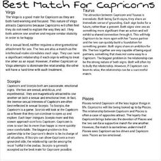 Best match for a capricorn male