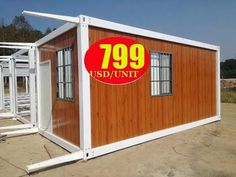 prefab shipping container house homes frame installation video Contemporary Garden Rooms, Diy Garage Door, Latest House Designs, Container Architecture, Micro House, Log Cabin Homes, Cabins And Cottages, Small House Design, Tiny House Living