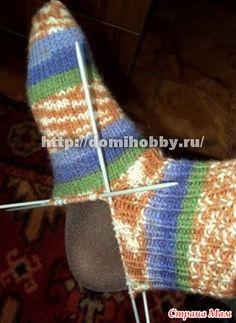 Как вязать носки спицами??? МК!