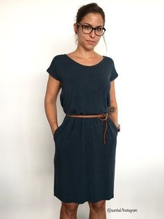 8d98591461bd3e ➊➁➂➃ Für Anfänger geeignet Easy ist ein locker gerade geschnittenes Kleid  mit überschnittenen Schultern im Casual