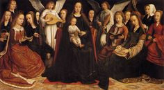 TICMUSart: Madonna with Angels and Saints - Gerard David (1509) (I.M.)