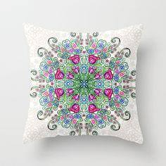 Ballpoint Kaleidoscope Throw Pillow by Alohalani - $20.00