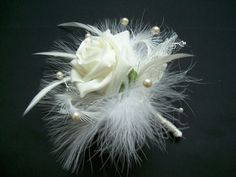 Rose Bud Flower Bouttoniere Buttonhole by IndigoDaisyWeddings, $10.00