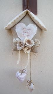 Home Sweet Home Felt Craft Cute Crafts, Felt Crafts, Fabric Crafts, Sewing Crafts, Diy And Crafts, Sewing Projects, Projects To Try, Arts And Crafts, Felt Patterns