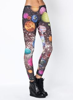 These printed leggings are out of this world amazing.