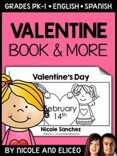 This downloads in English plus a FREE Spanish version. It has a variety of resources for your Valentine's Day unit or lessons. It includes a mini book, comprehension questions and graphic organizers. I made these Valentine's Day activities to use with my beginner readers.