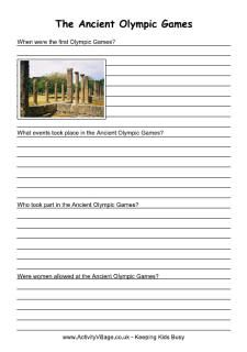 Learn all about the ancient winter Olympics... With printable worksheets...  FREE