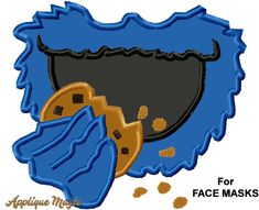 Cookie Face Mouth Applique for Face Masks Machine Embroidery Pattern hoops 4x4 and 5x7 in 2 sizes INSTANT DOWNLOAD by AppliqueMagic on Etsy Machine Embroidery Patterns, Free Machine Embroidery Designs, 4x4, Mouth Mask Design, Different Types Of Fabric, Etsy, Mask Ideas, Lunch Bags, Closed Doors