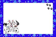 Dálmatas Meninos - Kit Completo com molduras para convites, rótulos para guloseimas, lembrancinhas e imagens! - Fazendo a Minha Festa